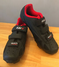 Louis Garneau Multi AirFlex HRS-80 Men's Cycling Shoes Black/Red Sz. 43(USA 9.5)