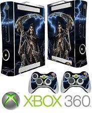 XBOX 360 ORIGINAL GRIM REAPER GOTHIC ANGEL DEATH STICKER SKIN COVER & 2 PAD SKIN
