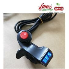 Thumb Throttle with LCD Digital Battery Voltage Display and Power Switch e Bike