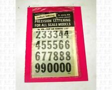 Letraset 1:32 Decals Black & White 5/8 Inch Number Set V36 Slot Car Numbers