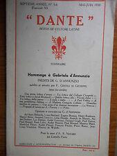 Gabriele D'Annunzio Romanziere e Prosatore di TITTA ROSA 1936 FASCICOLI 11 E 12