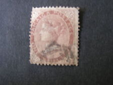 JAMAICA, SCOTT # 6, 1/-. VALUE, BROWN QV 1872 WMK. PINEAPPLE ISSUEUSED
