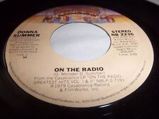 DONNA SUMMER-ON THE RADIO/THERE WILL ALWAYS BE A YOU CASABLANCA 2236 VG+ 45