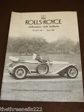 ROLLS ROYCE ENTHUSIASTS BULLETIN #120 - MAY 1980 SILVER GHOST 2500E