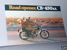1972 Honda CB450 K5 SUPER SPORT Motorcycle Sales Lit