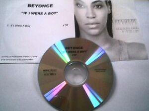 "BEYONCE - CD SINGLE PROMO ""TEST-PRESSING"" ""IF I WERE A BOY"""