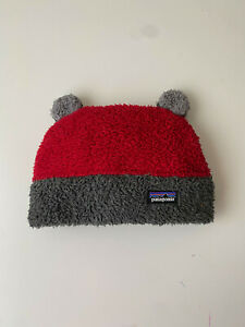 Kids Patagonia Furry Friends Hat Beanie Red Ears / Size 24 mo