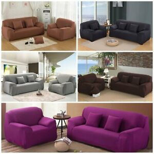 1 2 3 Seater Stretch Elastic Sofa Covers Slipcover Couch Cover Chair Protector