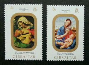 [SJ] Gibraltar Christmas 1974 Festival Religion (stamp) MNH