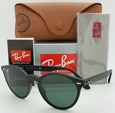 NEW Rayban Blaze Round sunglasses RB4380N 601 71 Black Green G15 4380  AUTHENTIC bb3131ef63aa