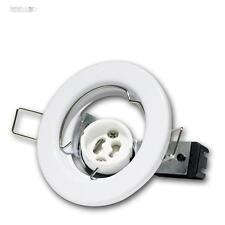 3 Pcs GU10 Spot Encastré Châssis De Montage BLANC Luminaire à encastrer GU 10
