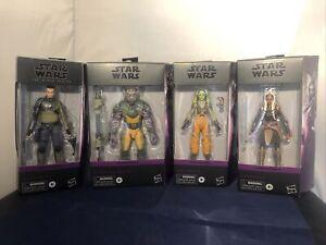 Star wars Black Series Rebels X4 Action figures set Rare Including Ashoka