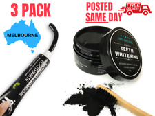 3 PACK Charcoal Teeth Whitening + Bamboo Toothpaste (Carbon Coconut Coco Kit)