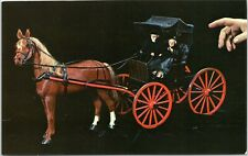 Game Lodge Doll House - horse and buggy Mitchell South Dakota postcard