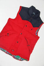 Ralph Lauren Down Puffy Warm  Vest Red  Vest men Large  L