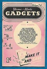 HOME-MADE GADGETS MAGAZINE SEPTEMBER 1953 HINTS AND TIPS FOR SAVING MONEY