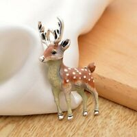 Fashion Lovely Sika Deer Animal Brooch Pin Enamel Wedding Costume Jewelry Gifts
