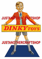 Dinky Toys Vintage 1950's A4 Regular Size Poster Shop Display Sign Advert