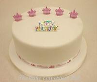 Princess Candles, Happy Birthday Motto and Ribbon Cake Topper Set