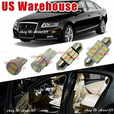 9-pc Luxury White LED Light Interior Package Lamp Map Kit For Audi A6 or S6 C6