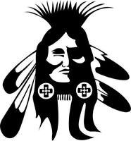Die Cut Vinyl Decal Tribal Mohawk Skull 20 Colors Car Truck Motorcycle B86