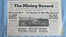 New listing 1958 Mining Record-Monticello Utah Uranium-Round Mountain Nevada Gold Mines