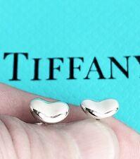 Tiffany & Co Sterling Silver Elsa Peretti 9mm Bean Earrings