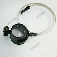15 times Eye-Loupe LED Light Lamp Head Band Magnifier Watch Repair Tool new