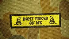 NEW DONT TREAD ON ME YELLOW BLACK TACTICAL MORALE HOOK PATCH AUSTRALIAN SELLER