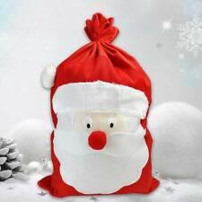 Large Embroidered Personalised Christmas Santa Sack xmas stocking 50 x cm UK