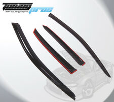 Dark Smoke Rain Visor Deflector 4 pcs Out-Channel For Audi A4 2002-2005