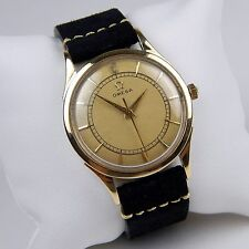 Omega Seamaster Ref. 2635 14 kt Yellow Gold Bumper Strap Watch #A1739