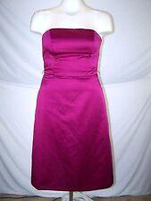After Six Purple Pink Metallic Strapless Formal Prom Dress Womens Size 8 Medium