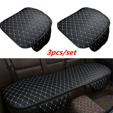 Car Interior Front / Rear Seat Cover Breathable PU Leather Pad Mat Auto Cushion