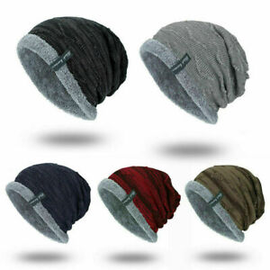 2022 New Winter Beanies Slouchy Chunky Hat for Men Women Warm Soft Knitting Caps