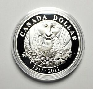 Canada 2011 Bird .925 Sterling Silver $1.00 One Dollar Coin Proof