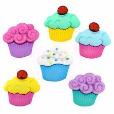Jesse James Buttons - Dress It Up - SWEET TREATS 4814 ~ Large Cupcakes ~ Crafts
