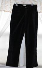 J. JILL Black 100% Brushed Cotton Velvet Embroidered Waist Pants 10