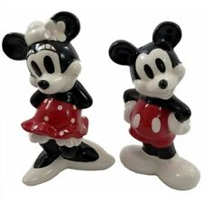 Disney Mickey & Minnie Mouse Salt & Pepper Shakers, Collectible Vintage Look
