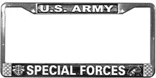 US ARMY SPECIAL FORCES HIGH QUALITY METAL LICENSE PLATE FRAME - MADE IN THE USA!