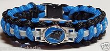 Carolina Panthers Blue, Black & Silver Paracord Bracelet or Lanyard or Key Chain