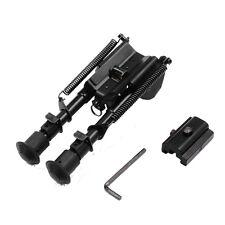 Heavy Duty 6-9 inch adjustable Swivel tilt-level Pivot rifle Bipod&adapter mount
