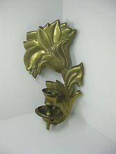 Vintage BRASS WALL Candle Holder