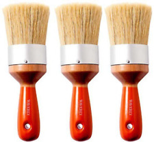 "3-PACK  2"" Waverly Wax Chalk Natural & Nylon Bristles Furniture Paint Brush NEW!"