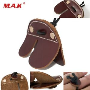 Cow Leather Finger Guard Protect Glove Archery for Recurve Bow Targeting Hunting