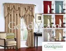 GoodGram Luxurious Georgina Window Curtain Treatments - Assorted Colors