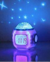 Childrens Baby Star sky Alarm clock Projector Night Light With Music Sleeping