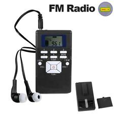 Small Portable Stereo FM Radio DSP Receiver Pocket Clip-on Radio Time Clock Z1X4