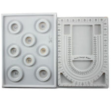 2Pcs Bead Design Board Bracelet Design Board Flocked Bead Board Necklace Bea W2E
