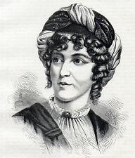 Madame de Stael 1871 Anne Louise Germaine de Staël-Holstein Victorienne Gravure